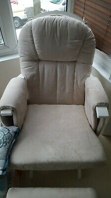 White Mothercare Nursing Chair and footrest