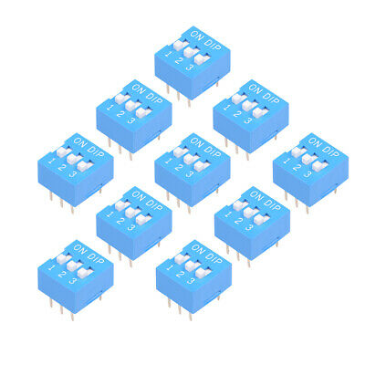 10 Pcs Blue DIP Switch Horizontal 12 3 Positions 2.54mm Pitch for Circuit PCB