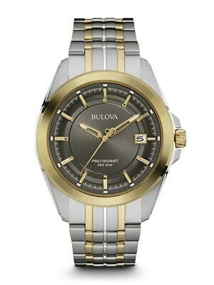 New Bulova Precisionist Grey Dial Stainless Steel Men's Watch 98B273