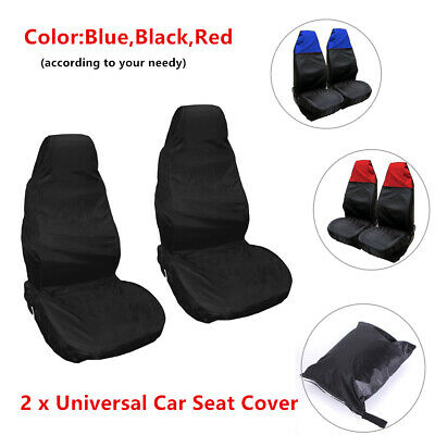 2xExcellent&Waterproof Car Front Seat Cover Protector Nylon Heavy Duty Universal
