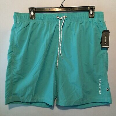 b2ad430b42 NAUTICA Swim Shorts Quick Dry Swimming Trunk Mens Size XL Blue Elastic  Waist NWT