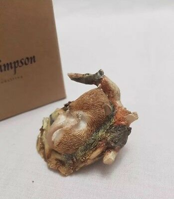 Country Artists- Sherratt And Simpson- Mouse Asleep In Nest Figurine Ornament