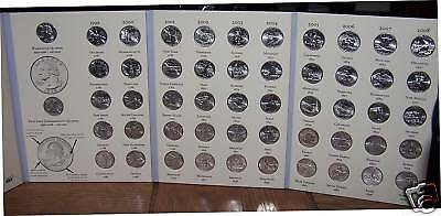 50 States Quarter Set Complete De-Hi Phila In Folder Nr Statehood Collection