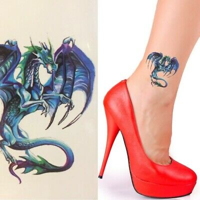 Einmal Tattoo Drache Bunt -Temporary Tattoo Aufkleber Temporäre Tattoos A059