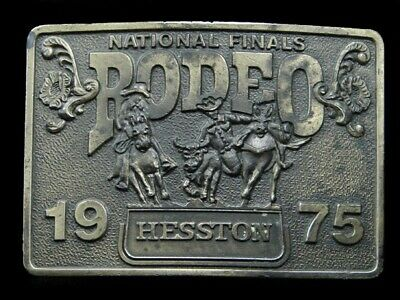Rk05174 Used Nfr ***1975 National Finals Rodeo*** Hesston Collector Belt Buckle