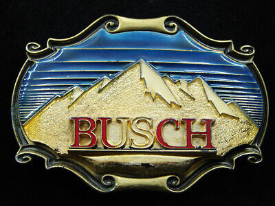 Rh13138 Vintage 1980 **Busch** Beer Advertisement Raintree Belt Buckle