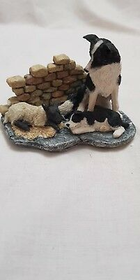 Country Artists Sherratt And Simpson Border Collie With Pup & Lamb Figurine