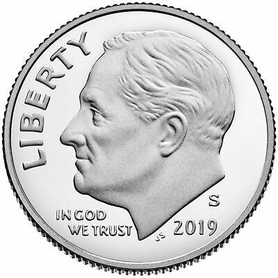 (100) 2019 S Clad PROOF ROOSEVELT DIME GEM DEEP CAMEO COIN