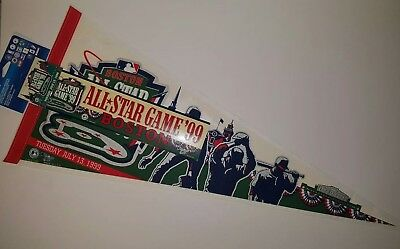 Boston Red Sox All Star Game 1999 Pennant w/ Bumper Sticker & Pin Fenway Park 99