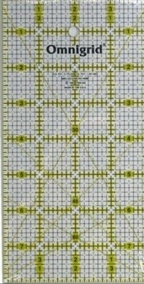 "OMNIGRID 4"" x 8"" RULER - QUILTING ACRYLIC TEMPLATE - PATCHWORK QUILTING"