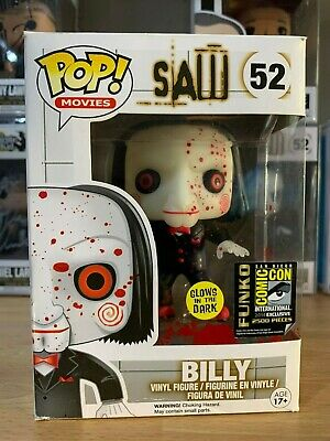 Funko Pop! #52 Billy Saw GLOW IN THE DARK - ORIGINALE - NO FAKE - GARANTITO