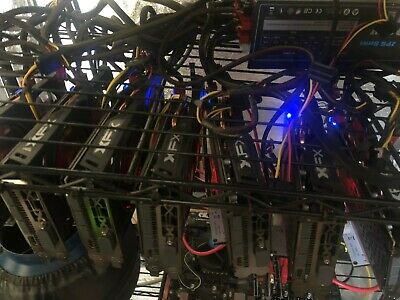 CRYPTO CURRENCY GPU: 7x RX580 8GB MINING RIG COMPLETE