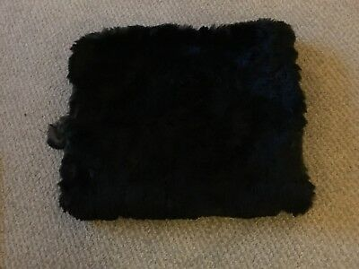 Vintage Black Fur Muff With Calf Skin Lining
