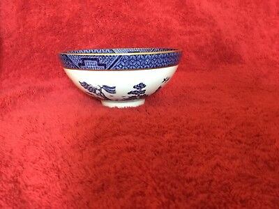 Real Old Willow Royal Doulton Booths Dessert Bowl. Gold Rim. C 1981