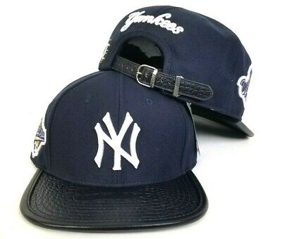 online store 93e60 30e8b Pro Standard MLB Navy New York Yankees 1996 World Series Patch Strapback Hat  Cap