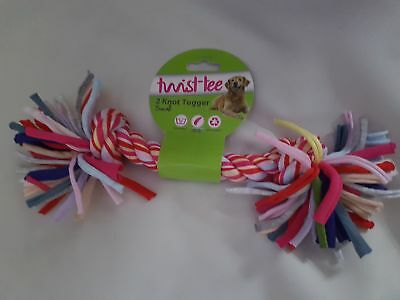 Happy Pet Twist-tee 2 Knot Tugger dog toy