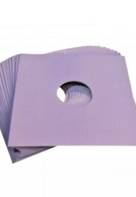 """50 X 7"""" Lilac Purple Card Record Master Bags Sleeves / Covers *New*"""