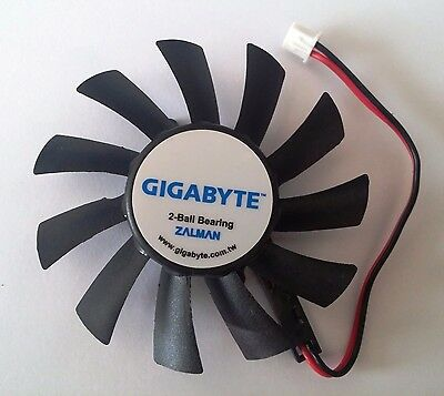 Gigabyte GPU Cooling Replacement 75 mm 2 pin Fan for VGA Card - Zalman ZF8015ATM