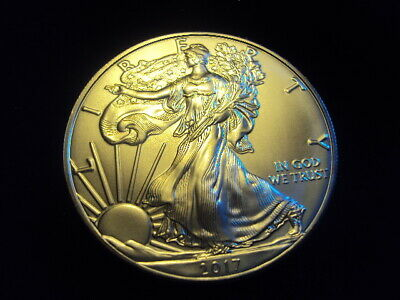 2017 Ounce American Eagle Uncirculated .999 Fine Silver OZ -In plastic sleeve ~C