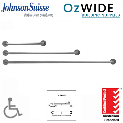 Assist Grab Rail 300 600 900 mm Stainless LH & RH Ambulant Disabled Commercial