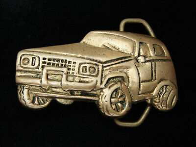 RC07125 VINTAGE 1970s CUT-OUT **PICKUP TRUCK** SOLID BRASS BELT BUCKLE