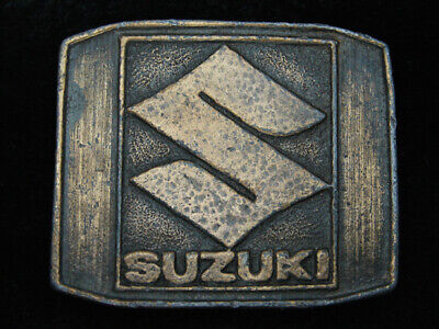 RB09105 VINTAGE 1970s **SUZUKI** MOTORCYLES ADVERTISEMENT BELT BUCKLE