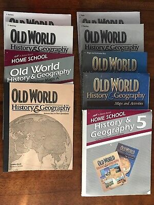 ABEKA OLD WORLD History & Geography Textbook and Answer Keys