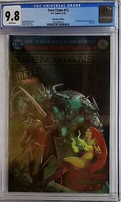 Teen Titans #12 Cgc 9.8 Wp Foil Convention Variant 1St App Batman Who Laughs Dc