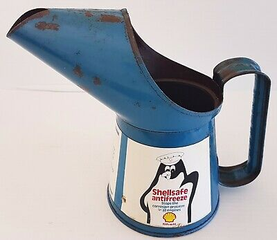 Vintage Rare Shell Antifreeze One Pint Oil Pourer Early 1970's