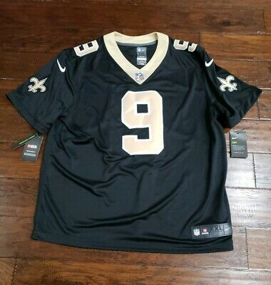 0e8ddd3cd3e NIKE MENS NEW ORLEANS SAINTS DREW BREES STITCHED DRI-FIT JERSEY Size 2XL.