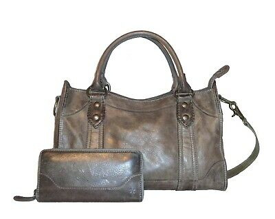 4debcf80e FRYE Ice Leather Melissa Satchel DB147 NWT $388, Ice Zip Wallet $158 NWT