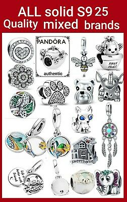 Pandora Climbing Mickey Safety Chain. Charms Silver Bee Earring Cat Teapot Bear