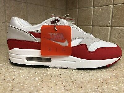 promo code cab68 2a5db Nike Air Max 1 30th Anniversary -SIZE 10.5- 908375-103 White Red Grey