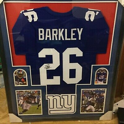 best sneakers 1a922 e66fa SAQUON BARKLEY SIGNED New York Giants 35x43 Custom Framed ...