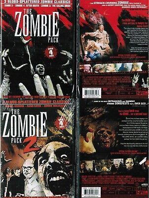Zombie Pack 1+2 New 3 DVD Box Sets Contains 6 Zombie Movies 3 4 5 Burial Ground