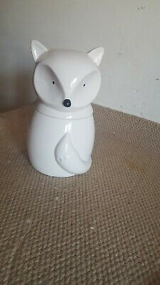Fox Cookie Jar Art Deco style 25 cm tall x 14 cm wide.