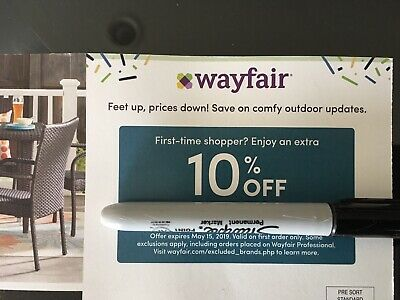 WAYFAIR Coupon ~ 10% Off Your Order ~ Expires 5/15/19 FAST SHIPPING
