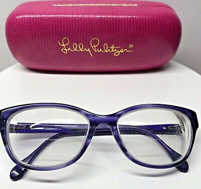 53287ff2f4a Lilly Pulitzer Purple Eyeglass Frames With Pink Case Prescription Unknown