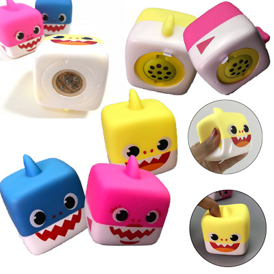 2019 Hot Baby Shark Singing Cube vinyl Toys Music Doll English Song Gift For Kid