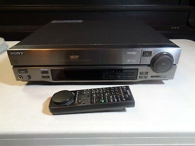 Vintage Sony MDP-333 Laser Disc LD/CD CDV Player with/ Remote