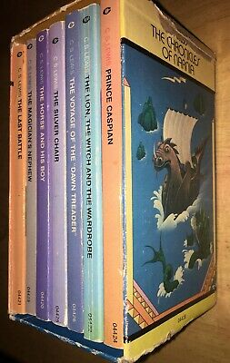 Vintage Chronicles Narnia C S Lewis Collier Box Set 1970s Fantasy Rare Books