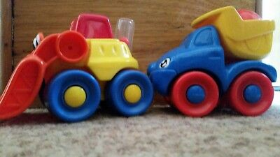 EUC Fisher price baby toddler construction vehicles bulldozer dump truck