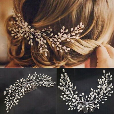 Wholesale Elegant Wedding Bridal Pearl Flower Crystal Hair Pins Clip Bridesmaid