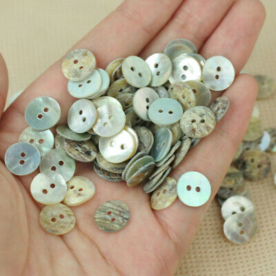 100 PCS / Lot Natural Mother of Pearl Round Shell Sewing Buttons 10mm HOT