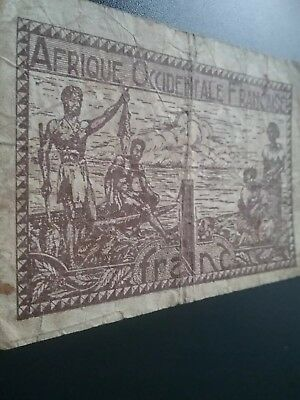 1944 FRANCE COLONIAL AFRICAN note