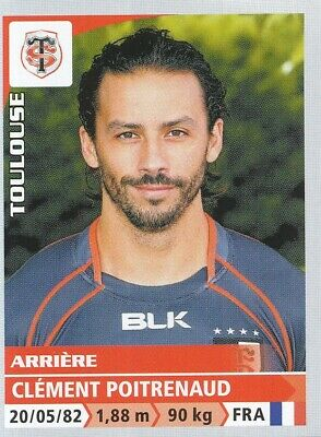 262 Clement Poitrenaud # Stade Toulousain Top 14 Sticker Panini Rugby 2015