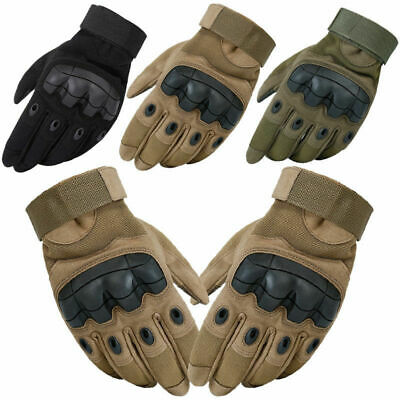 Tactical Hard Rubber Knuckle Gloves Cadets Army SAS Security Special Ops Police