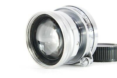 【EXC】Leica Summicron L 50mm 1:2 F/2 W/Lear Cap MF Lens Free Shipping from Japan
