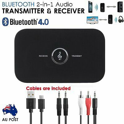 HIFI Wireless Bluetooth 2 in1 Audio Transmitter and Receiver 3.5MM RCA Adapter B