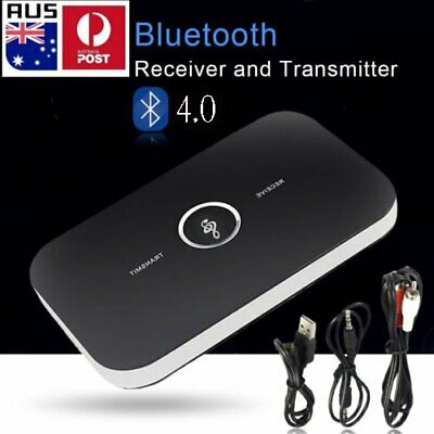 HIFI Wireless Bluetooth Audio Transmitter and Receiver 3.5MM RCA 2 in1 Adapter B